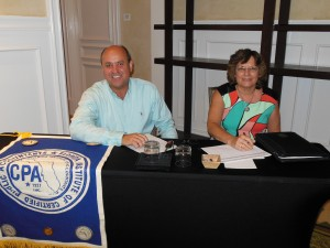 Kevin Madok, Chair, Florida Keys Chapter FICPA, and Linda Johnson, Treasurer, at CFFK's Day of Philanthropy, which included workshops for professional advisors.