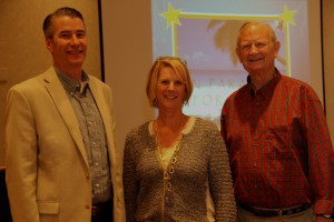 Barry Beach from Mason Investment Advisory Services, CFFK President Dianna Sutton, and CFFK Investment Committee Chair Tom Clements