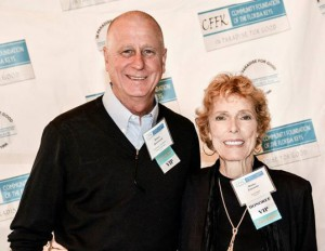 CFFK Chairman Robert Spottswood and honoree Shirley Freeman, also a CFFK board advisor and founder