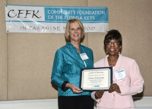 Dianna Sutton with honoree Dr. Suzan Armstrong of the Canon John H. Reece Scholarship Fund