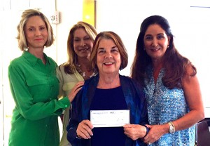 Banyan Grove Endowment Fund Advisors Andrea, Teri and Elena Spottswood with Samuel's House Founder and CEO Elmira Leto (with check).