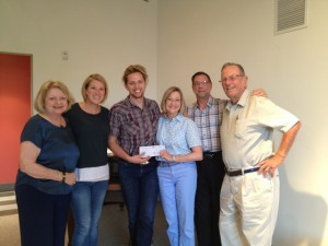 Emily Boyd Lowe Grant to TSKW: (left to right) Linda Greenberg (Fund Advisor); Erin Stover-Sickman (Artistic Director, TSKW); Musician Ben Pegg; Margaret Dietz Domanski (Fund Advisor); Vincent Zito (Fund Advisor), and Donald Lowe (Founder of the Fund and Fund Advisor).