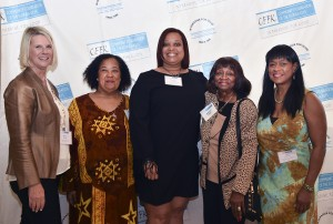 CFFK President Dianna Sutton (left), 2016 Unsung Hero Detra Fisher (second from left), and friends from the Frederick Douglass School Black Educators' Project.