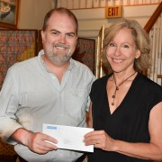 The Studios of Key West Executive Director Jed Dodds and CFFK Grant Committee Member Susan Cardenas.