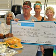 2017 Grant to MARC House (left to right): MARC Executive Director Diana Flenard, Anita Milian, Pete Sweet, MARC staff member Jenn Marciano, CFFK Grant Committee Chair Rita Linder, and Pam Nelson