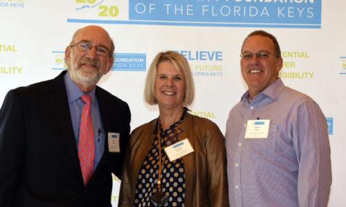 CFFK Chair Ron Burd, CFFK President/CEO Dianna Sutton, Lower Keys Medical Center CEO David Clay